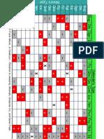 Pokémon Type Chart (Index card-sized)