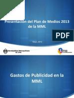 Plan de Medios 2013 Municipalidad de Lima
