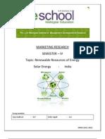 Renewable Resources of Energy, Solar Energy