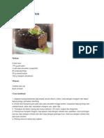 Cake Cokelat Kukus