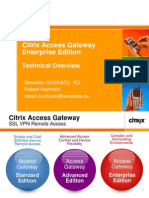 Citrix Access Gateway 7-0 Enterprise Edition - Technical Presentation Englisch