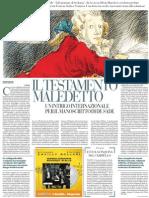 Le peripezie del manoscritto de «Le 120 giornate di Sodoma» - La Repubblica 01.06.2013