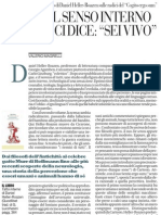 Valerio Magrelli sul saggio «Tatto Interno» di Daniel Heller-Roazen - La Repubblica 01.06.2013