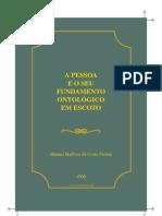 Costa Freitas Manuel Barbosa Pessoa e Seu Fundamento Ontologico Em Escoto