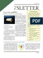 HDMI Newsletter 1st Quarter 2013