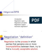 Types of Negotiations