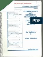 Introduction aux méthodes statistiques en controle de la qualité (Techniques statistiques Vol 4)