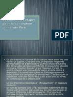(fondament multimédia)les differents etapes pour la conception d'une site web
