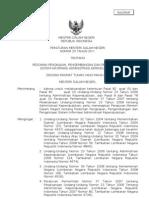 Peraturan Menteri Dalam Negeri Nomor 25 Tahun 2011