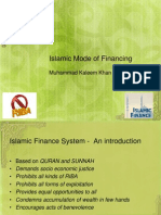 Islamic Mode of Financing