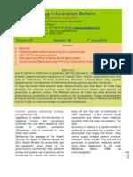 Drug Information Bulletin 08 07