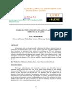 Stabilization of Medium Plastic Clays Using Industrial