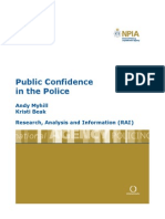 Public Confidence in the Police
