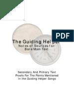 Guiding Helper - Sources for Lyrics