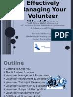 Effectively Managing Your Volunteer Workforce