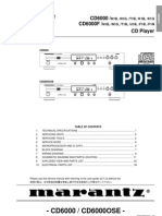 Marantz CD6000 Service Manual