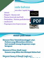 Akidah untuk Ijazah 2012