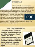APRESENTAÇÃO DE WATTIMETRO ELETRODINAMICO