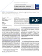 Variation in Peel Strength and Surface Roughness