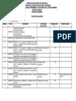 Plan e Evaluacion