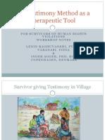 Workshop on Testimonial Therapy