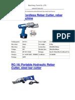 Portable Hydraulic Rebar Cutter Steel Bar Cutter