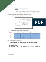 Modul 8 Array Multidimensi
