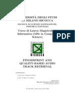 Fingerprint and quality-based audio track retrieval