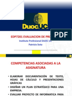 EDP7201 EVALUACION DE PROYECTOS