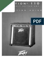 Peavey Audition 110 Manual