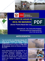 Monitoreo Rio Maranion Julio 2010