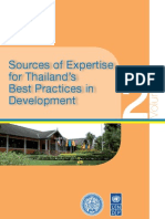 Sources of Expertise for Thailand Best Pracitces in Development