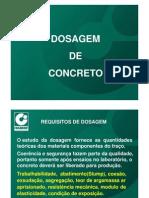 Dosagem de concreto - Itambé