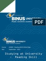 Reading Skill Binus Bina Nusantara binusmaya.binus.ac.id