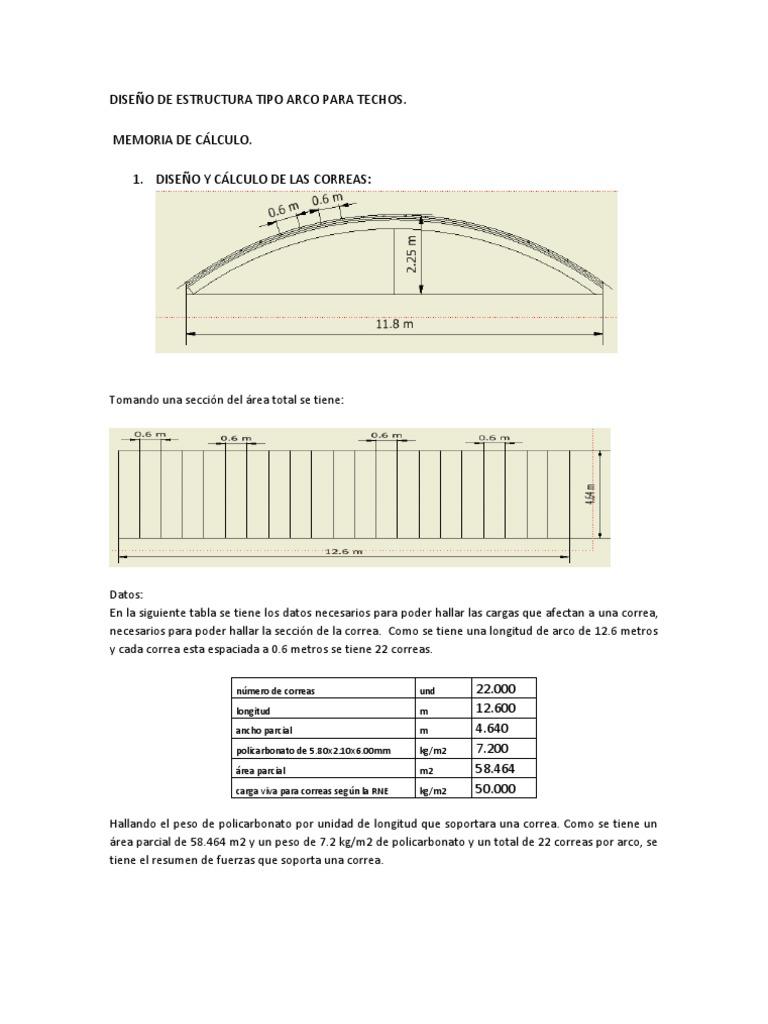 Dise o de estructura tipo arco para techos for Modelos de techumbres