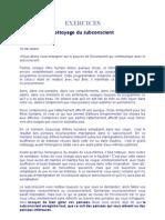 EXERCICES nettoyage du subconscient.doc