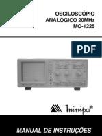 Manual Osciloscópio MO-1225 Minipa