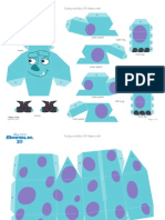 Monsters Inc Sulley Boo 3d Papercraft Printable 1112 0