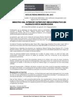 MINISTRO DEL INTERIOR SUPERVISÓ MEGAOPERATIVO EN HUÁNUCO ESTA MADRUGADA