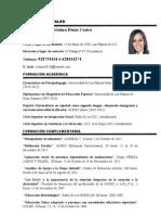 Curriculum Cristina Blog
