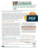 Precauciones Frente Al Consumo de Huevo