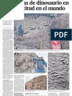 Huellas de Dinosaurios en Peru