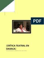 Crítica teatral en Oaxaca