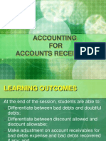 Accounting for Acc Receivable