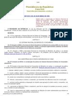 DECRETO Nº 2.181, DE 20 DE MARÇO DE 1997