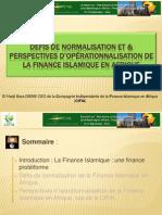 Défis & Perspectives de Normalisation et d'Opérationnalisation de la Finance Islamique en Afrique