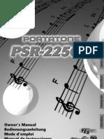 Manual Del Teclado Yamaha PSR 225 GM