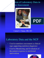 Laboratory Data in Nutrition Assessment (1)