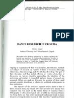 Dance Research in Croatia