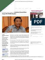 Menko Kesra Tolak Pencabutan Aturan Masa Kerja UPK PNPM Mandiri